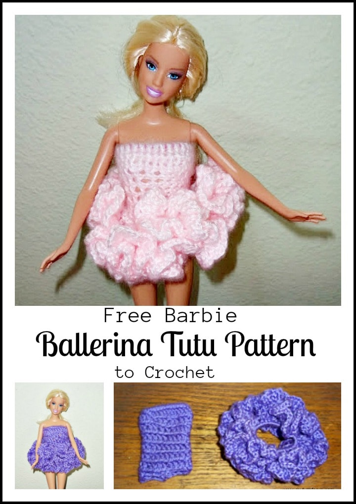 How To Crochet A Ballerina Tutu To Fit A Barbie Size Doll My Turn