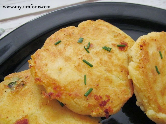 How to make easy mashed potato patties my turn for us mashed potato patties ccuart Image collections