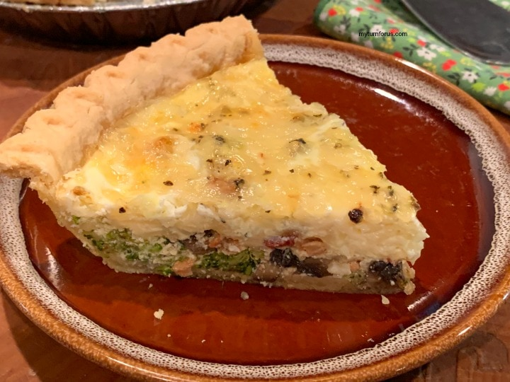 broccoli bacon quiche