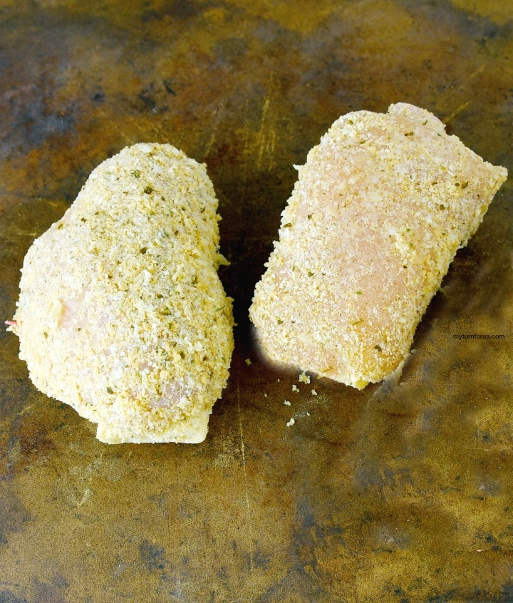 chicken cordon bleu with panko or chicken kiev with ham and cheese breaded