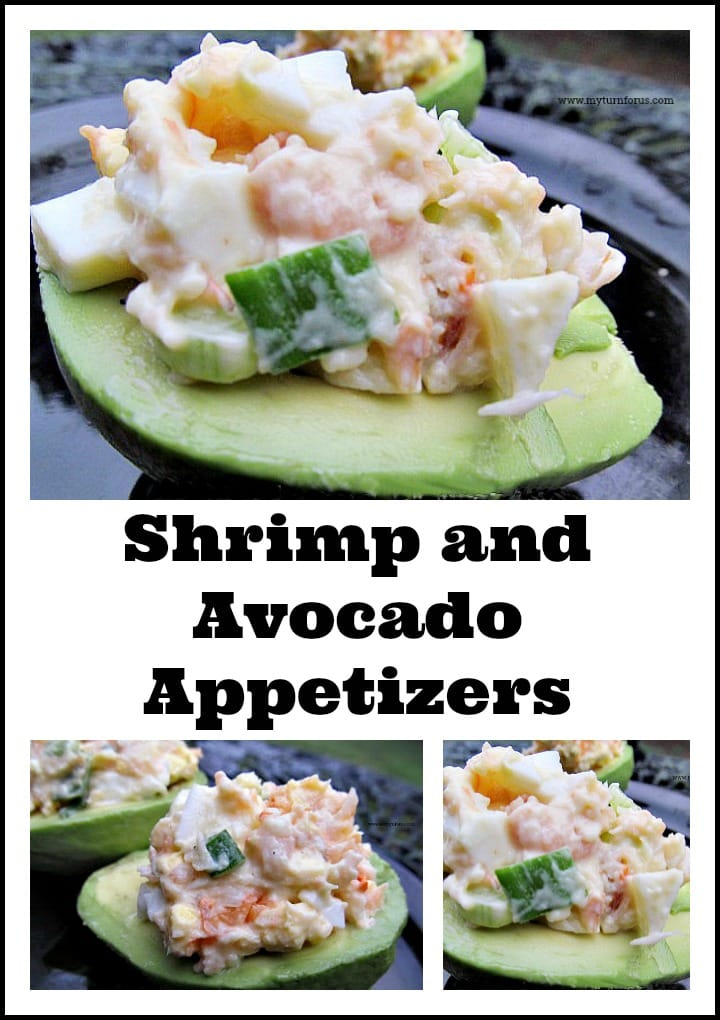 Shrimp Salad on a Avocado Half