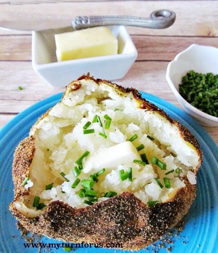 seasoned baked potatoes, baked jacket potatoes