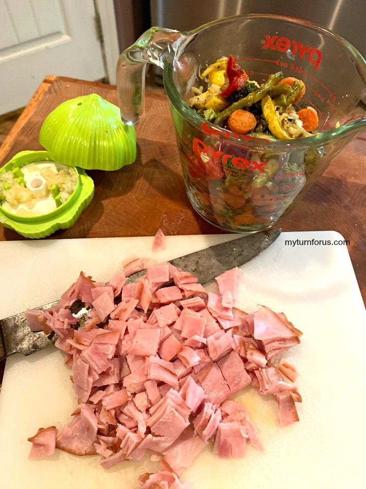 Ham and veggies