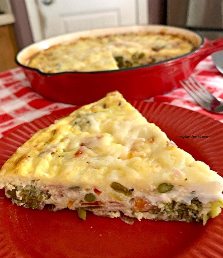 frittata, ham and vegetable frittata