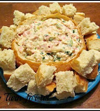 Easy Shrimp Dip in Bread Bowl
