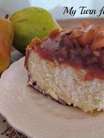 Best Homemade Caramel Pear and Pecan Glaze over Cheesecake
