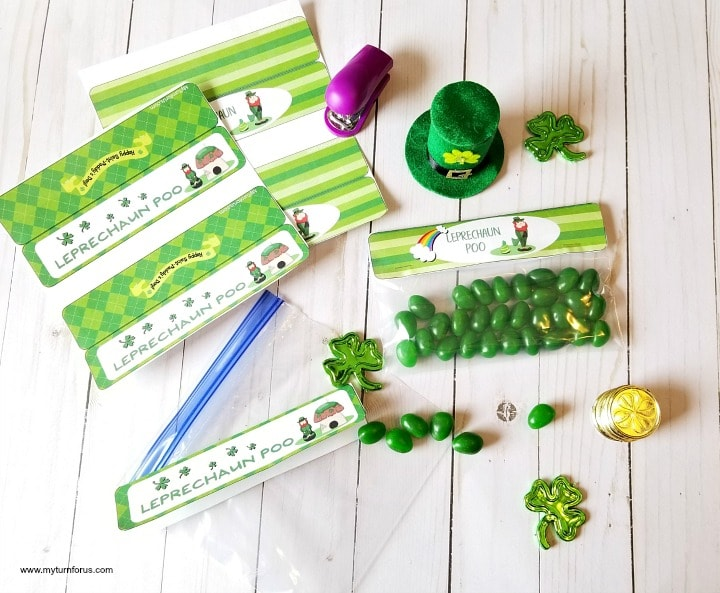 free printable treat bag toppers, treat bag toppers, St patrick's Day Printables