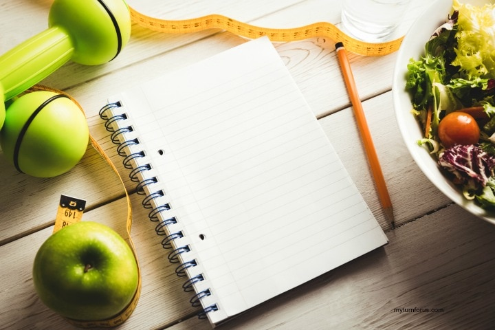 whole 30 plan notebook for ideal weight loss