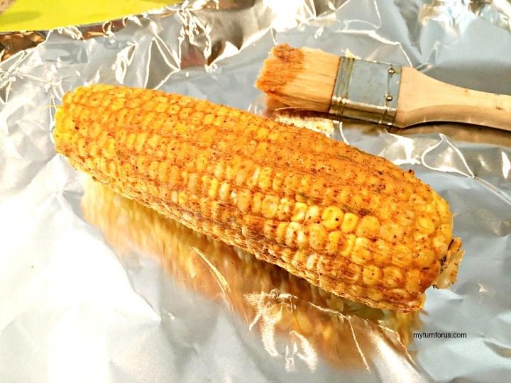 Buttered Corn Recipe, Chile lime corn