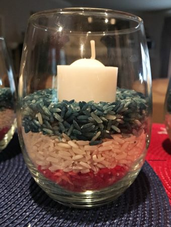 How to Make Easy Colored Rice Patriotic Candle Jars