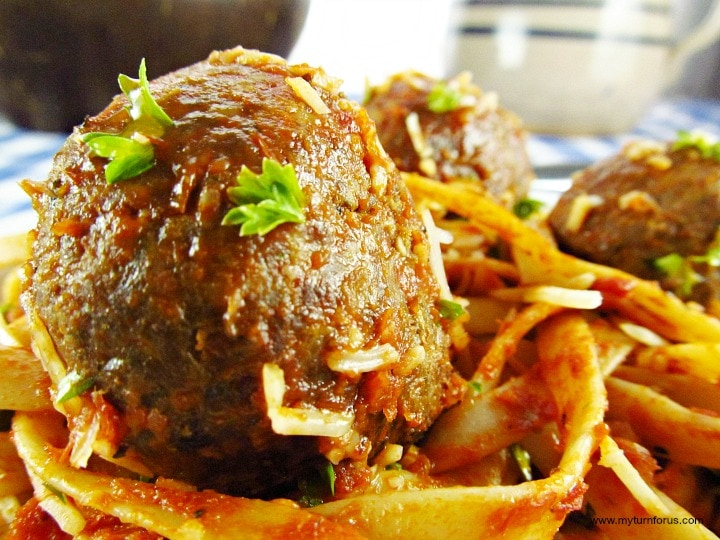 Baked Turkey Meatballs,
