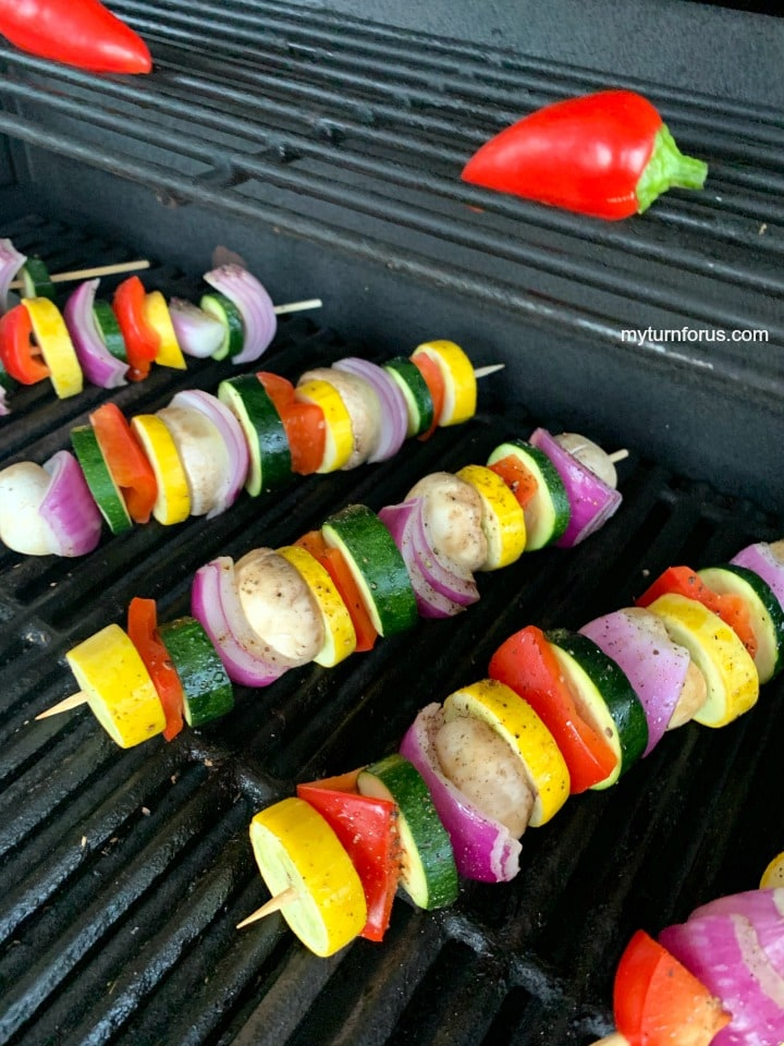 vegetables skewers on the grill