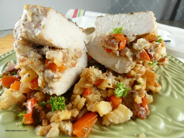 oven baked stuffed pork chops