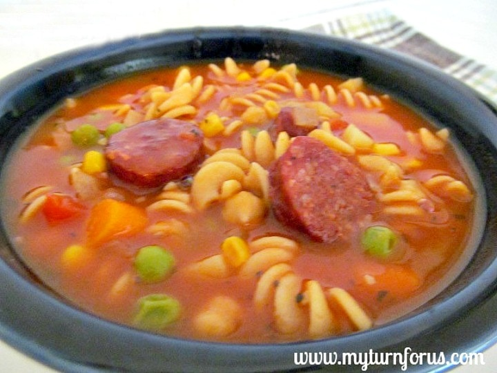 Hearty Sausage Minestrone Soup