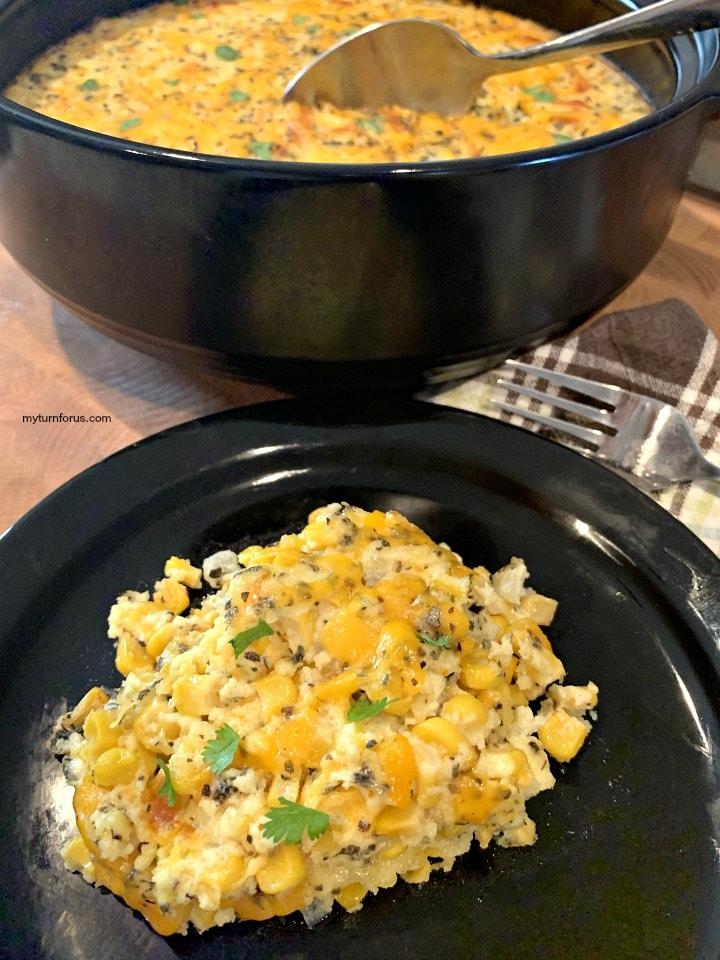 corn souffle, corn souffle recipe, corn casserole without jiffy