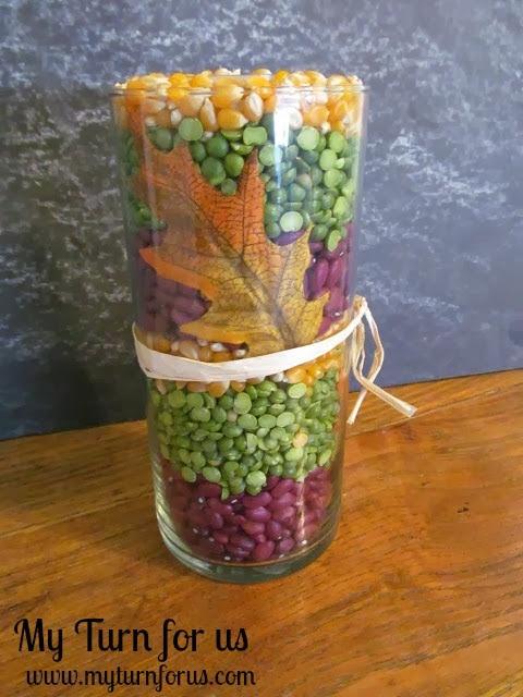 Fall Decor, Fall Candle Vase