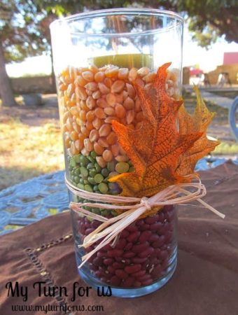 How to Make an Inexpensive Fall Candle Vase
