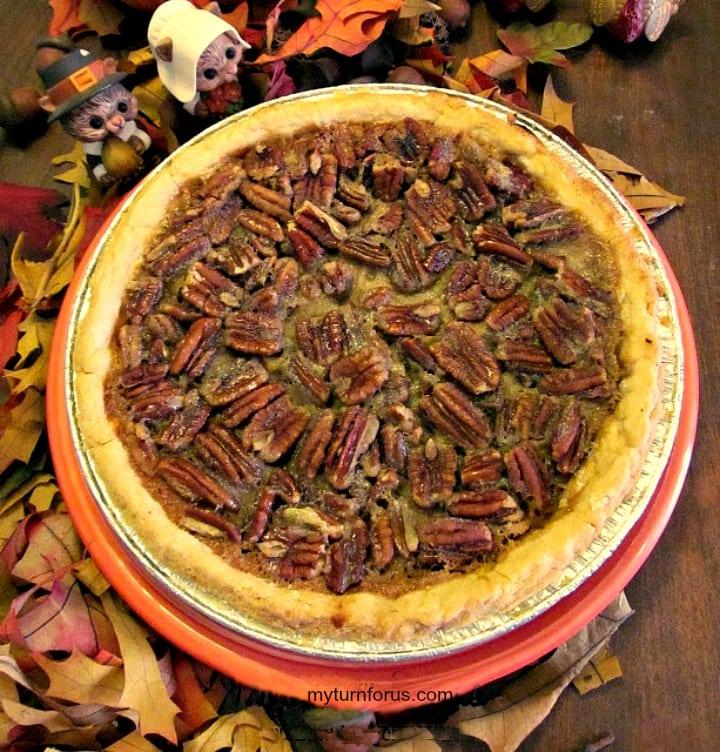 texas pecan pie, bourbon pecan pie, pecan pie filling