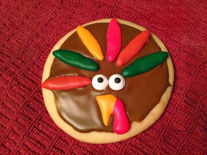 royal icing decorations, Thanksgiving Turkey Cookies