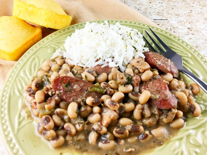 black eyed peas rice