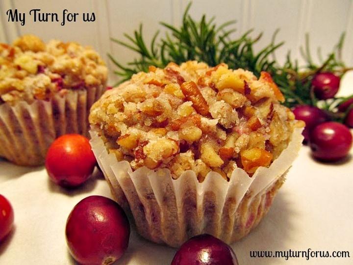 Cranberry Muffins, cranberry walnut muffins,