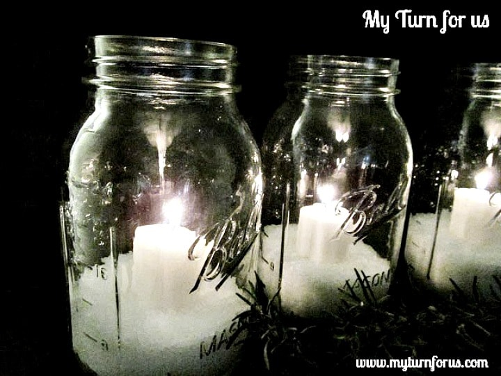 Mason Jar luminaries, Christmas Jars
