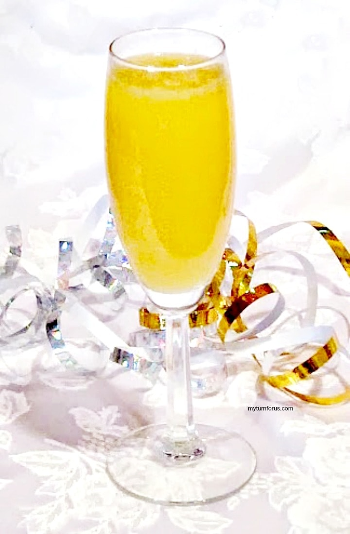 mimosa recipe with grand marnier in a champagne glasss