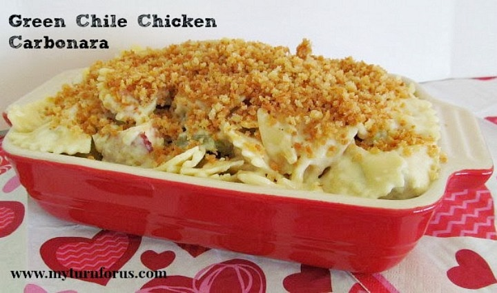 Hatch Green Chile Recipes, Creamy Chicken Pasta Carbonara, Chicken and Bacon Carbonara