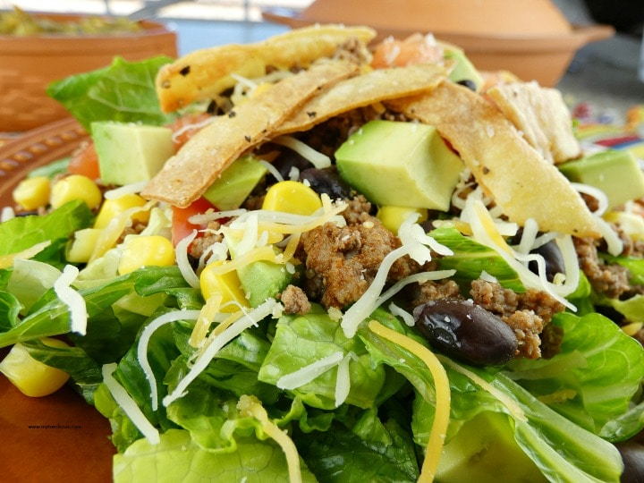 Healthy Taco Salad, Taco Salad Toppings, Skinny Taco Salad