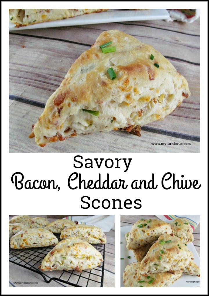 Savory Scone recipe seasoned with Bacon, Cheddar and Chives