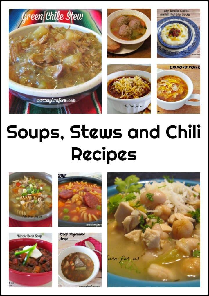 Stew recipes, soup recipes, chili recipes