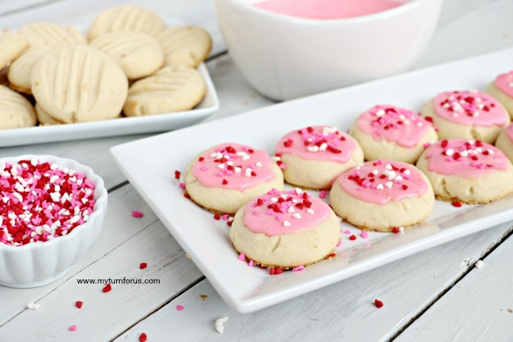 Valentine cookies, melt away cookies