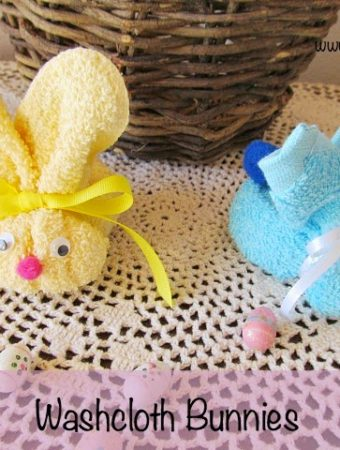 How to make Easy Washcloth Bunnies for Easter