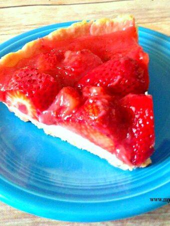 Strawberry Pie Recipe, strawberry pie, slice of strawberry pie