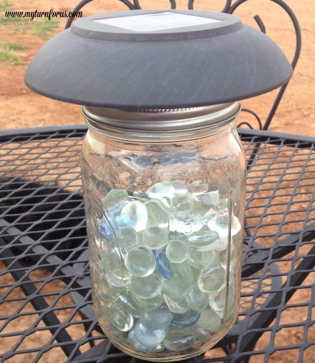 How to make mason jar solar lights