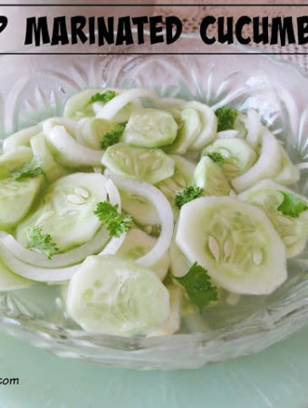 How to Make Crisp Marinated Cucumbers