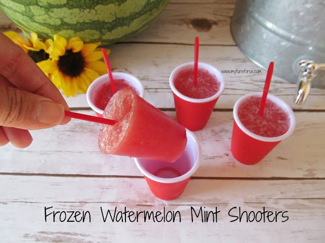 Frozen Watermelon Mint Shooters