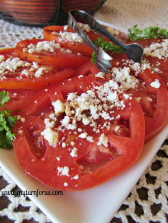 Balsamic Tomatoes with Feta Cheese