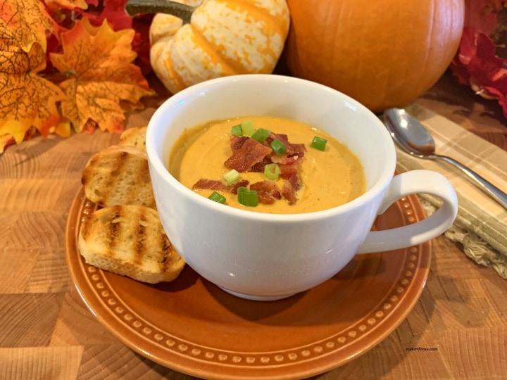 classic pumpkin soup, Roast pumpkin soup