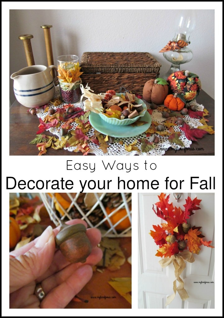 Easy ways to decorate for fall in your home my turn for us for Simple ways to decorate your home