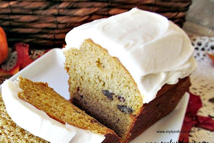 Simple Pumpkin Bread Recipe, Pumpkin Nut Bread, pumpkin loaf cake, icing for pumpkin bread