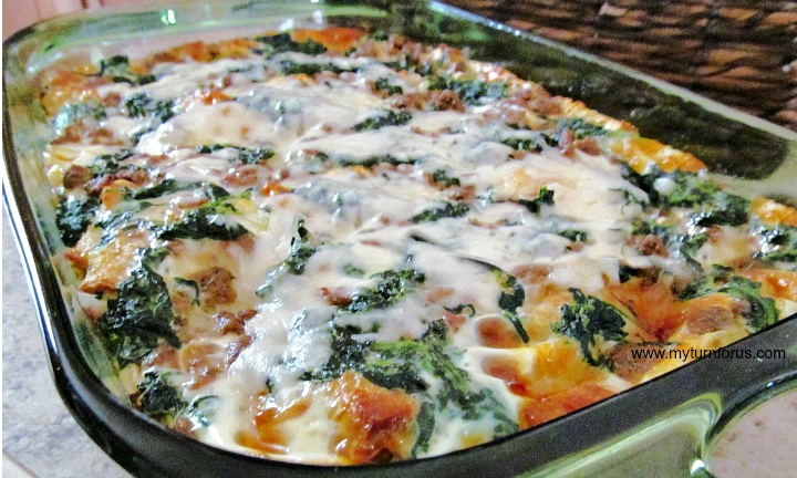 sausage egg spinach casserole