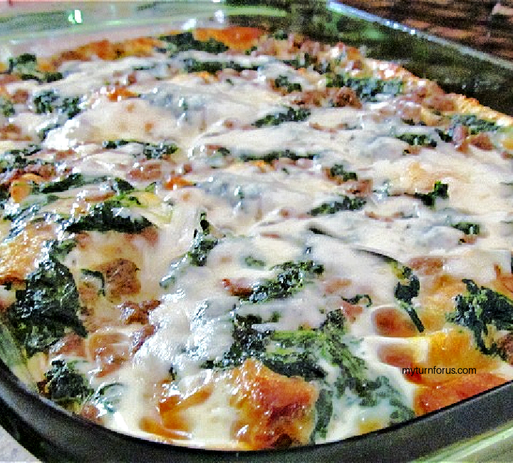 spinach sausage breakfast casserole