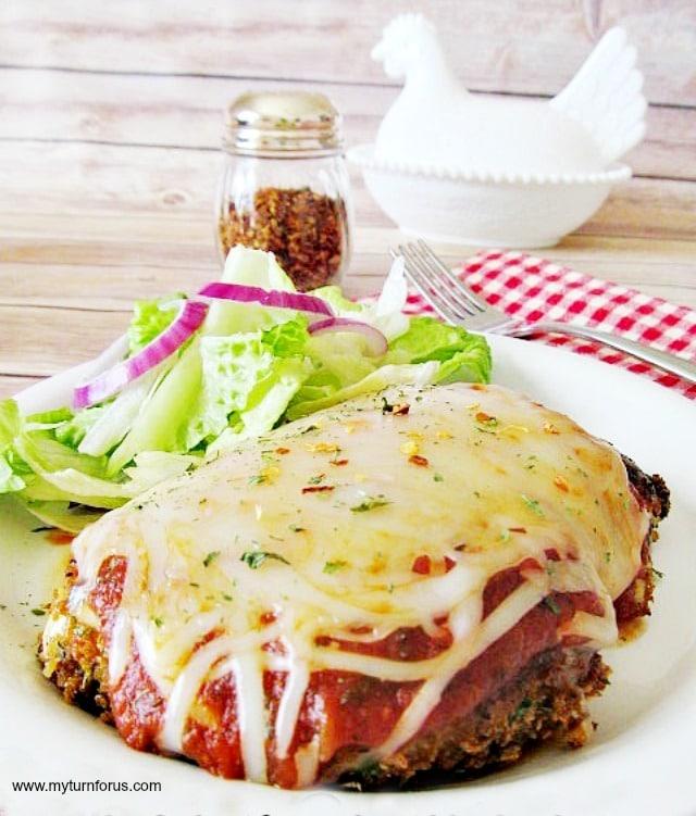chicken parmigiana, healthier chicken parmigiana