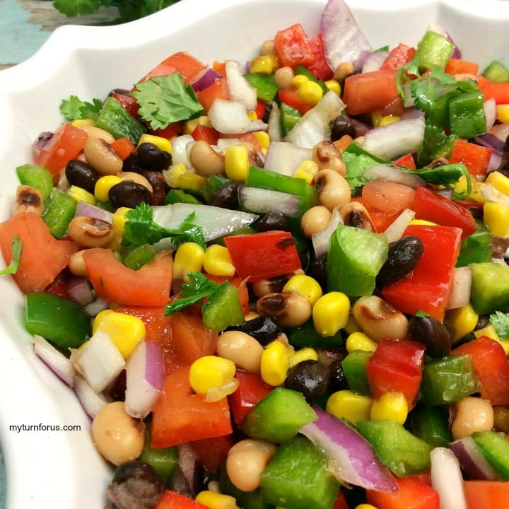 Cowboy salad recipe, Cowboy Caviar recipe, Corn, beans, jalapeños and onions with a Italian dressing