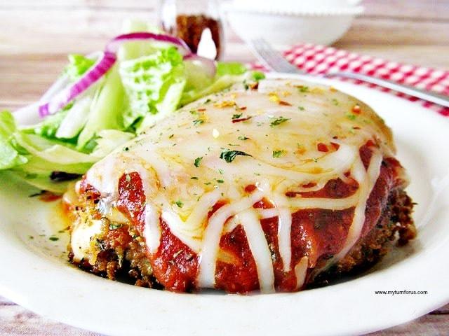 healthier chicken parmigiana, chicken parmigiana healthier version