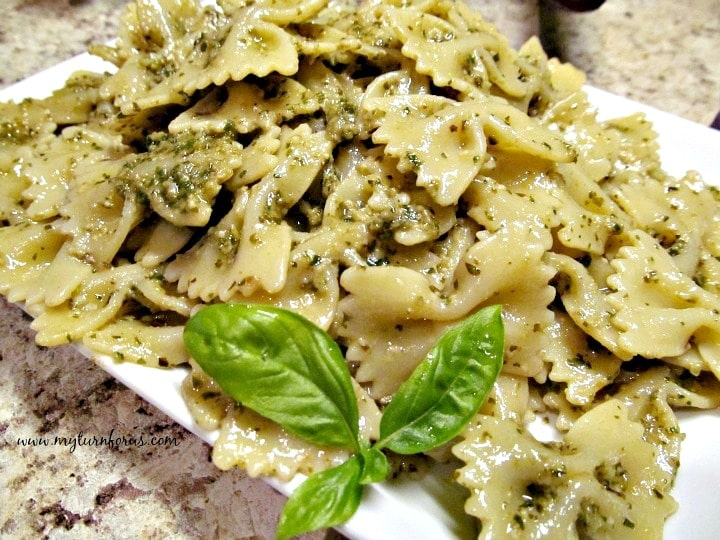 Farfalle Pasta with Pesto, Chicken Pesto Pasta