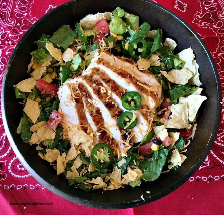 grilled chicken salad, chicken salad,