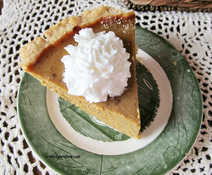eagle brand pumpkin pie recipe, Old Fashioned Pumpkin Pie with freshly grated nutmeg