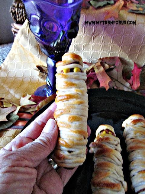 Halloween Snacks, Mummy Hot Dogs